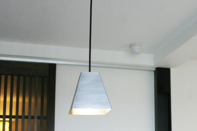 鉄のランプシェード 使用例
